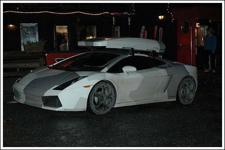 Суперкары и просто авто в камуфляже (15 фото) .