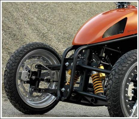 Как сделать мотоцикл на три колеса
