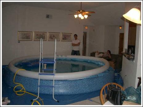 Бассейн в квартире своими руками